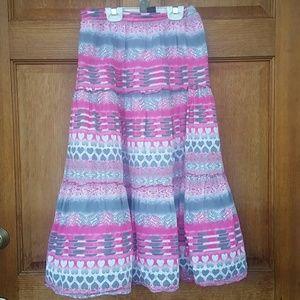 Long 99% cotton skirt.